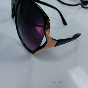 purple ombre sunglasses lens